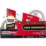Packatape | Verpakking Tape Gun + 2 rollen Clear Pakkettape 48 mm x 66 m | Pakkettapedispenser met snijder als tapepistool vo