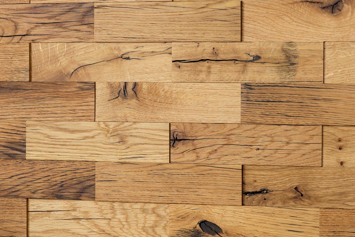 wodewa Original Eiche Altholz Holz Wandverkleidung | 1m² 3D-Optik ...