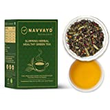 Navvayd Slimming Herbal Tea, With Garcinia Combogia Cardamom & Turmeric, Loose Leaf - Enjoy Hot or Cold, (100 Gm, 50…