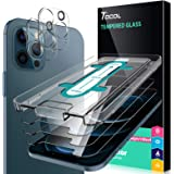 TOCOL 5 Pack Compatible with iPhone 12 Pro Max 5G 6.7 inch, 3 Pack Screen Protector Tempered Glass and 2 Pack Camera Lens Pro