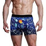 JIRT Slip Boxer da Uomo Cielo Stellato 12 Costellazioni Intimo Circolare Intimo Maschile Traspirante Pantaloni Elasticizzati