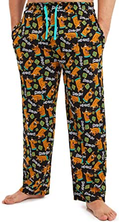 Scooby Doo Pyjamas for Men, 100% Cotton Mens Pyjamas Bottoms with Print of Scooby, Lounge Pants Mens with Elasticated Waist, Official Merchandise Gifts for Men Teenage Boys