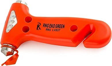 RNG EKO Green - Emergency Hammer Glass Breaker Seat Belt Cutter - Orange