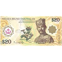 Rare Brunei & Singapore ( Two Countries for 1 Note ) 20 Ringgit Polymer Note UNC # 326