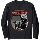 Star Wars The Mandalorian Mando and the Child Retro Manche Longue
