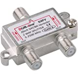 SAT & BK-verdeler - 2-voudige splitter - volledig afgeschermd - Unicable & HD geschikt [DUR-line D2FV - voor satellietsysteme