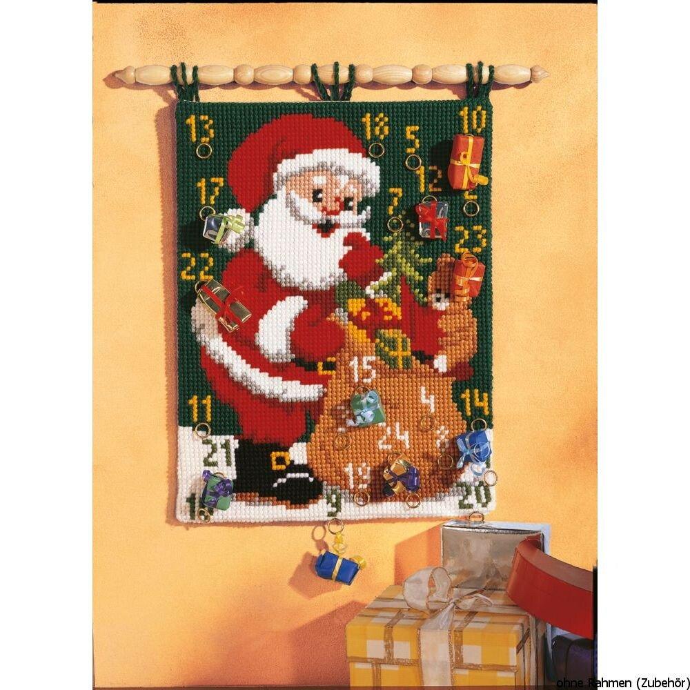Calendario Dellavvento Punto Croce.Kit Per Punto Croce Motivo Natalizio Calendario Dell Avvento 40 X 53 Cm 1 8 Punti Cm Casame