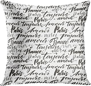 TOMKEYS Throw Pillow Cover Paris with
