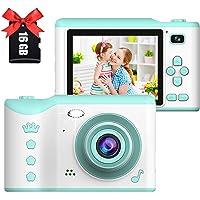 Appareil Photo numérique pour Enfants,Écran Tactile IPS HD 2,8 Pouces,Appareil Photo pour Enfants avec Double Objectif…