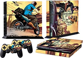 Elton Grand Theft Auto V Gta 5 Decal Cover For Sony PS4 Console And Playstation 4 Controllers (Multicolour)