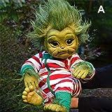 DBFISHINGREEL Reborn Baby Grinch Toy, Muñeco De Dibujos Animados Realista, Muñeco De Simulación De Navidad, Decoración del Ho