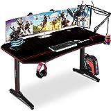 Himimi 63'' Mesa Gaming Desk, Ergonómica Grande PC Gaming Escritorios 160x74x76 cm, Computer Computadora Gamer Pro Tablas con