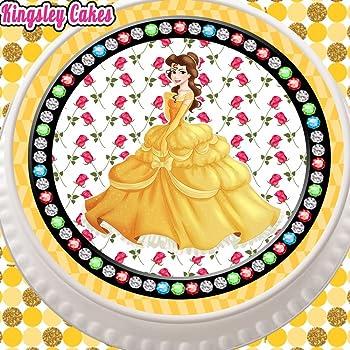 CINDERELLA PINK STAR BORDER 7.5 INCH PRECUT EDIBLE CAKE TOPPER DECORATION