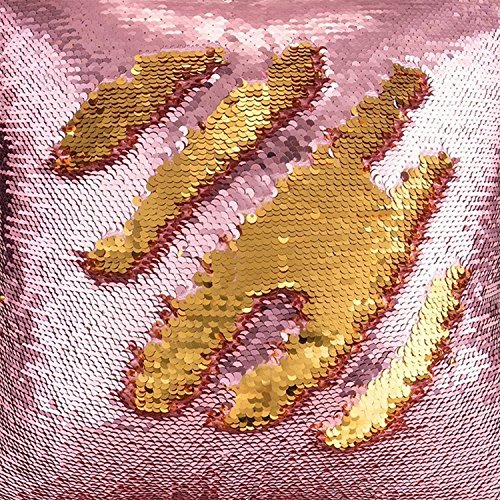 Best TRLYC Rose Pink and Gold Mermaid Dress Clothing Fabric Reversible Sequin Curtain-20ftx10ft Special