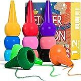 PGFUNNY 12 färger vaxkritor palm grepp krita tvättbar och icke-giftiga kritor för barn, småbarn, barn, pojkar och flickor mål