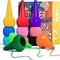 PGFUNNY Crayons de Bébé,12 Peinture Crayons Couleurs pour Tout-Petits Non Toxiques, Sûreté de Lavage Palm-Grip à Doigts…