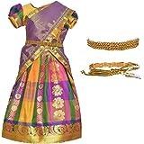 AMIRTHA FASHION Girl's Cotton Silk Readymade Lehenga Choli