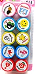 Oytra Stamps for Kids | Set of 10 Stamp - Also can be Used as Pencil Tops - Prefect Gift for Teachers Parents and Students