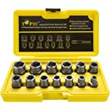 مجموعة أدوات إزالة البراغي والصمولة من توبيك مكونة من 13 قطعة، مقبس استخراج الصامول، مجموعة أدوات إزالة البراغي