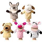 Ferme de marionnettes pour animaux avec des jouets en peluche à bouche ouverte mobile parfaits pour la narration, l'enseignem