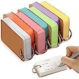 FEIGO Lot de 7 Cartes Mémo Mobile Multicolores, 90 × 50mm Mini Cartes d'Étude en Papier avec Anneau Reliure, Flash Cards pour