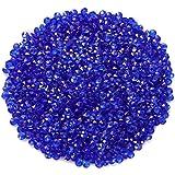 SUPVOX 2000 Kristalparels, acryl, donkerblauw, diamant, decoratie voor tafelvaas, bruiloft, bruid, 4,5 mm