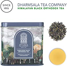 Dharmsala Tea Company Himalayan Black Orthodox Tea (100 gm Tin) - 50 Cups