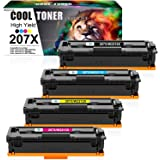 Cool Toner 207X 207A Cartuchos de tóner Compatible para W2210X W2210A para HP Color Laserjet Pro MFP M283fdw M283fdn M282nw H