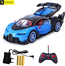 Zest 4 Toyz Bugatti Style Remote Control Rechargeable Car with Opening Doors (Assorted, BG3)