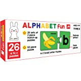 Play Poco Alphabet Fun Type 5 (Small Letters) - 52 Piece Alphabet Matching Puzzle - 7 Different Ways to Play and Learn - Incl
