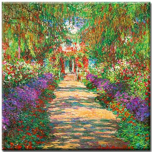 Jardin-de-Giverny-cuadro-en-lienzo-Claude-Monet-70-x-70-cm-impresin-sobre-lienzo-artstico-impresin-digital-de-alta-calidad-enmarcado-en-bastidores-de-madera-con-colgador-arte-de-museo-cuadro-clasico-i