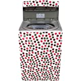Amazon Brand - Solimo PVC Top Load Fully Automatic Washing Machine Cover, Circle, Brown