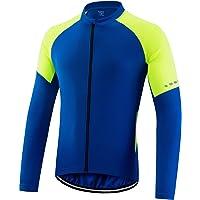 SUKUTU Men's Cycling Jersey Long Sleeves Mountain Bike Shirt Quick Dry Breathable Biking Cycle Tops