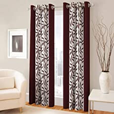 Super India Floral Curtain 1 Piece