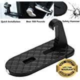 Horoly Car Doorstep Easy Access to Car Rooftop Roof-rack Folding Ladder Hooked Foot on Pegs Stand Door Step support with…