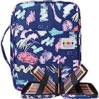 BOMKEE Trousse à crayons colorée 220 Slots Portable Dessiner Peindre Pochette Sac de rangement étanche multicouche pour…