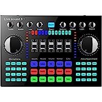 Mini Sound Mixer Board, Bluetooth Live Soundkarte für Live Streaming, Voice Changer Soundkarte mit mehreren…