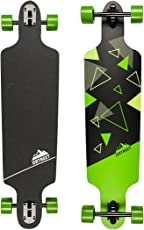 "D Street Unisex Longboard D Street Drop Through TRI DST-COM-4000 39""x10"" Green Skates Skating Boards"