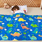 Anjee Kids Weighted Blanket, 100% Natural Cotton Heavy Blanket for Kids and Teens, 3kg 100x150cm, Dinosaur Park