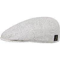 Borsalino Coppola Flax Cotton Uomo - Made in Italy cap Cappello Piatto Berretto Lino con Visiera, Visiera Primavera…