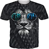 UNIFACO Men's 3D T-Shirts Short Sleeve Summer Casual Tee Shirts Personalized Sports Tops