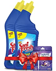 Sanifresh Ultrashine Toilet Cleaner 1L (500+500 ml) with Odonil 50g