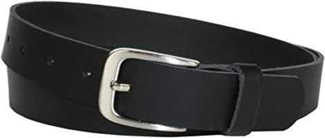Vascavi Ledergürtel 100% echt Leder, Jeansgürtel, 3 cm breit und ca. 0.25 cm stark, Gürtel, Made in Germany,...
