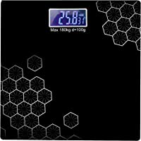 NS Nivansh™ Electronic Thick Tempered Glass & LCD Display Digital Personal Bathroom Health Body Weight Scales For Body Weight, Weight Scale Digital For Human Body, Weight Machine For Body Weight