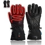 DR. WARM Beheizbare Handschuhe für Männer und Frauen, Schafsleder 7.4 2600mAhWiederaufladbare Batterie Heizhandschuhe Wasserdicht Handwärmerhandschuhe zum Skifahren,Radfahren, Motorradfahren