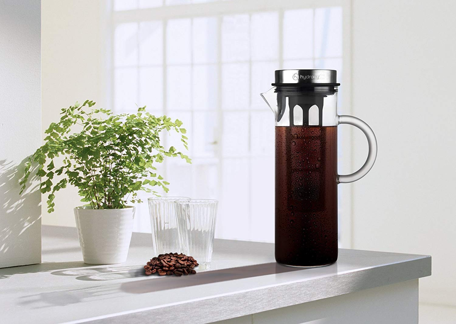Cold-Brew-Coffee-Maker-Large-Glass-Infusion-Pitcher-1500ml-Iced-Coffee-Iced-Tea-Pitcher-with-Stainless-Steel-Lid-Filter-Extra-Fruit-Infusion-Tube-Perfect-Gift-for-Home