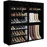ACCSTORE Étagère à Chaussures Style De Démarrage Hode Jusqu'à 27 Paires,Noir