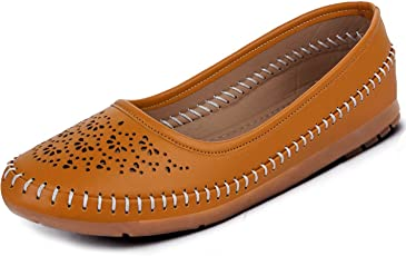 Ziaula Synthetic Stylish Laser Cut Bellies for Woman (Belly Shoe)
