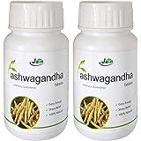 Jain Ashwagandha (Withania Somnifera) General Wellness , 850mg - 60 Tablets ( 2 Bottles )