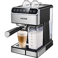 Aicook Macchina per Caffe, Macchina per Caffe Automatica e Macchina Caffe Espresso Professionale con Schermo Digitale e…